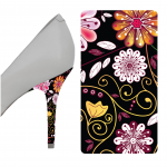 Black Floral heel wrap