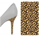 heel scuff repair | Brown and Gold Leopard heel wrap