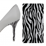 Zebra Black and Gray heel wrap