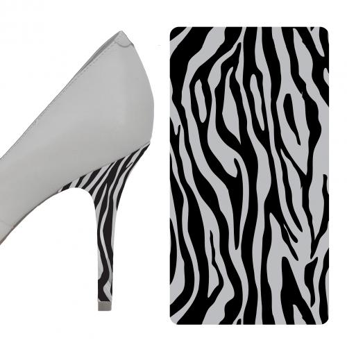 Zebra Black and Gray heel wrap
