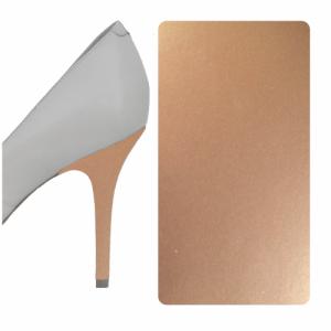 Champagne Metallic heel wrap