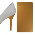 Gold Metallic heel wrap