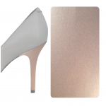 Silver Metallic heel wrap