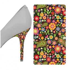 Floral Multicolor heel wrap