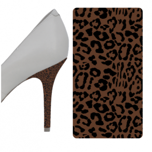 Leopard Black and Brown heel wrap