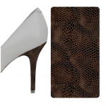 King Snake Brown heel wrap