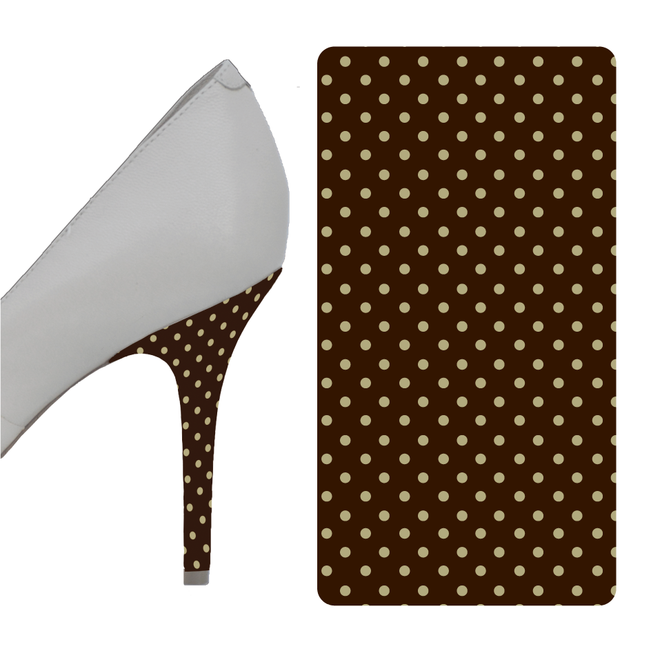 Polka Dot Brown Beige heel wrap