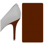 Milk Chocolate Brown Glossy heel wrap