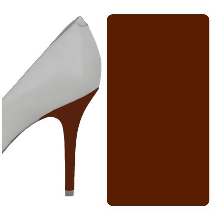 Milk Chocolate Brown Glossy heel wrap