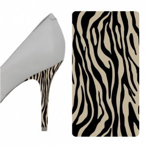 Zebra Black and Beige heel wrap