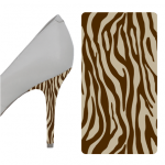 Zebra Brown Beige heel wrap