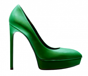 Green Christmas Shoe