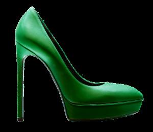 Green Christmas Shoe