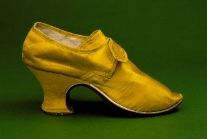 Yellow Silk Pumps