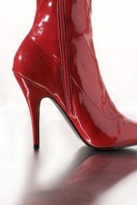 Red High Heel Boot