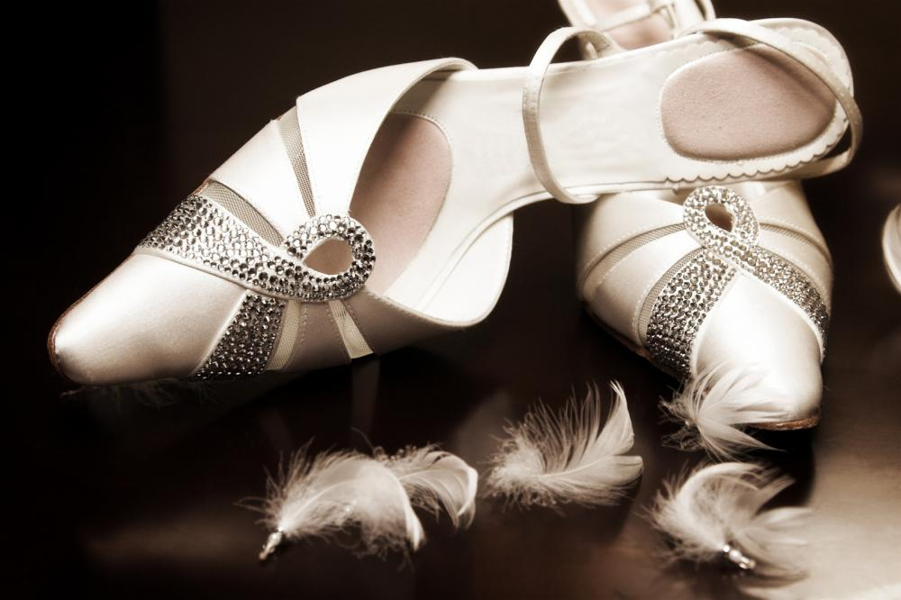 Bejeweled White Wedding Shoes